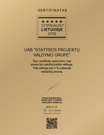 The Strongest in Lithuania 2016 - high credibility rating