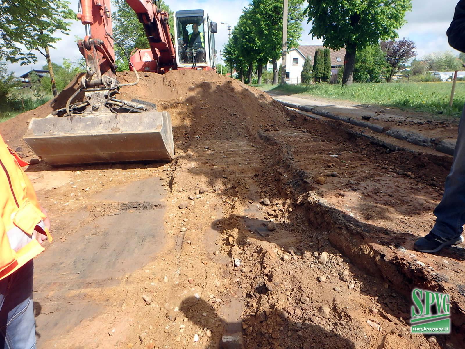 Kauno ir Perkūno gatvių rekonstrukcijos darbai Kelmėje