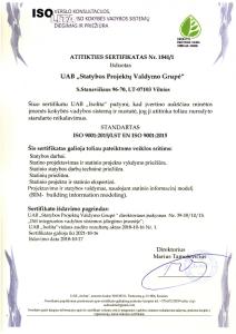 Kokybės vadybos sistema. ISOLITA sertifikatas