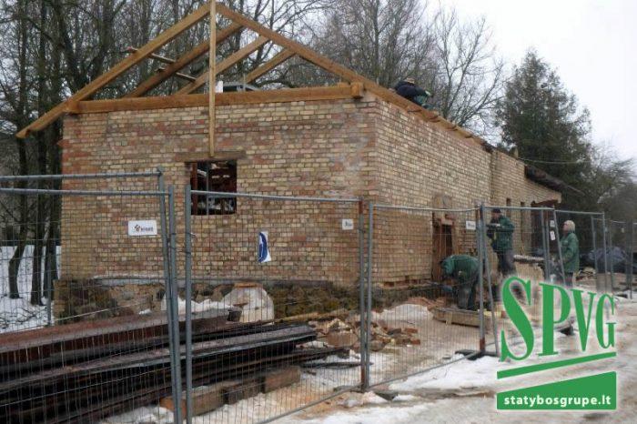 Baisogalos dvaro sodybos pagalbinių pastatų rekonstrukcija, kultūros paveldo tvarkybos darbai, SPVG, Vilnius