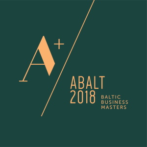 ABALT 2018 sertifikatas Baltic Business Masters