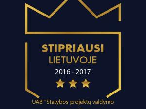Stipriausi Lietuvoje, Statybos projektų valdymo grupė UAB, 2016-2017