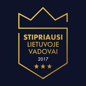 Stipriausi Lietuvoje, vadovai, 2017